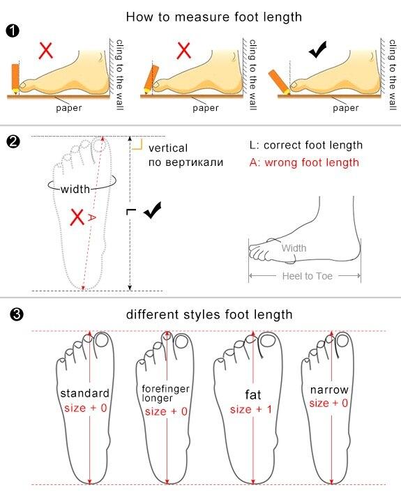 foot length-